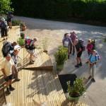 Départ pour une randonnée à Meyrueis, Lozère et Cévennes