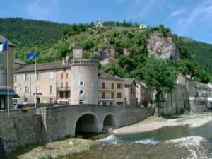 Village de Meyrueis en Lozère.
